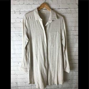Tea N Rose Full Zipper Dress or Shirt Size Large